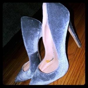 Liliana Pixie Point Velvet Heels